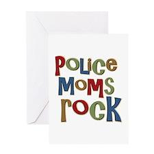 Police Moms Rock Law Enforcem Greeting Card