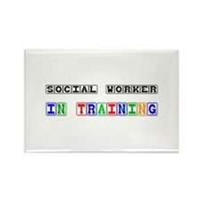 Social Worker In Training Rectangle Magnet