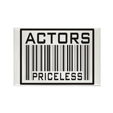 Actors Priceless Barcode Rectangle Magnet