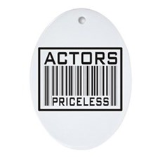 Actors Priceless Barcode Oval Ornament