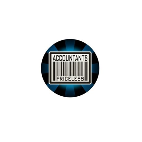 Accountants Priceless Barcode Mini Button