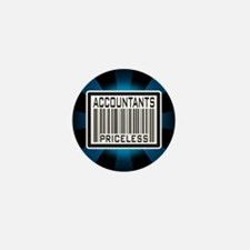 Accountants Priceless Barcode Mini Button (10 pack