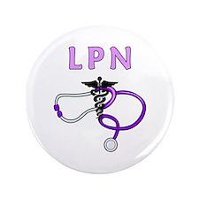 """LPN Medical Nursing 3.5"""" Button"""