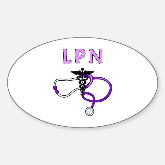 LPN Medical Nursing Sticker (Oval)