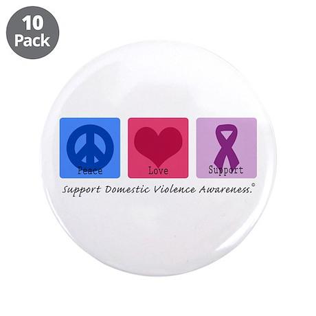 "Peace Love DV 3.5"" Button (10 pack)"