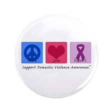 "Peace Love DV 3.5"" Button (100 pack)"