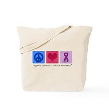 Peace Love DV Tote Bag