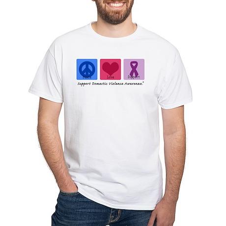Peace Love DV White T-Shirt