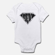 SuperGay(Metal) Infant Bodysuit