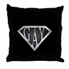 SuperGay(Metal) Throw Pillow