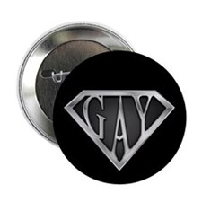 "SuperGay(Metal) 2.25"" Button"
