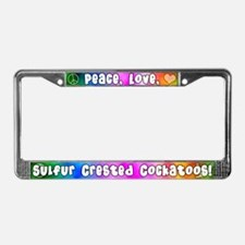 Hippie Sulfur Crested Cockatoo License Plate Frame