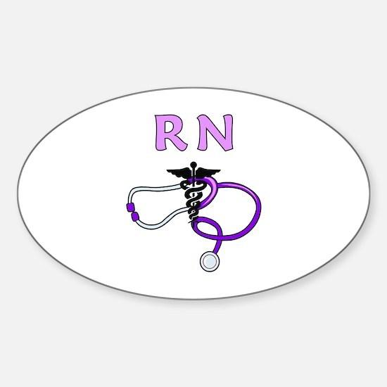 RN Nurse Medical Sticker (Oval)