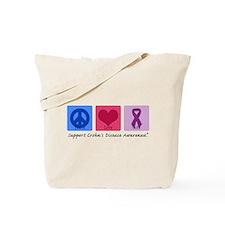 Peace Love Crohn's Tote Bag