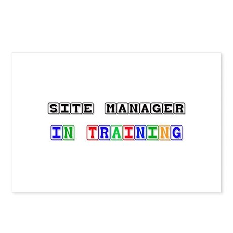 Site Manager In Training Postcards (Package of 8)