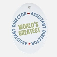 World's Greatest Assistant Director Ornament (Oval