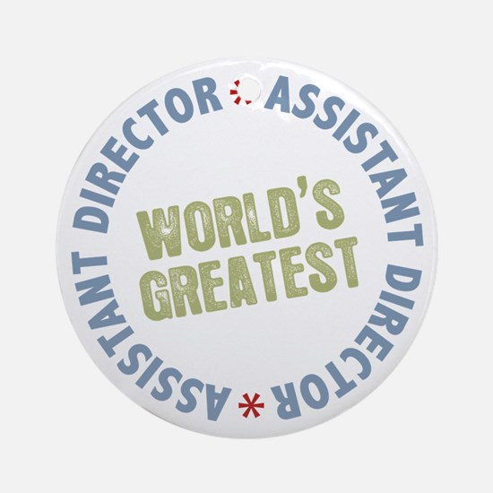 World's Greatest Assistant Director Ornament (Roun