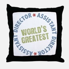 World's Greatest Assistant Director Throw Pillow