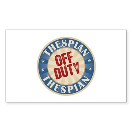 Off Duty Thespian Actor Rectangle Sticker