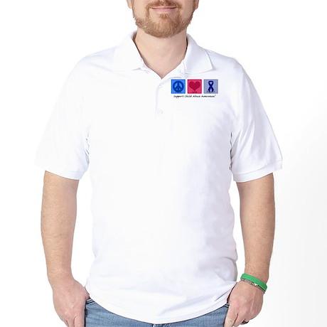Peace Love Child Abuse Golf Shirt