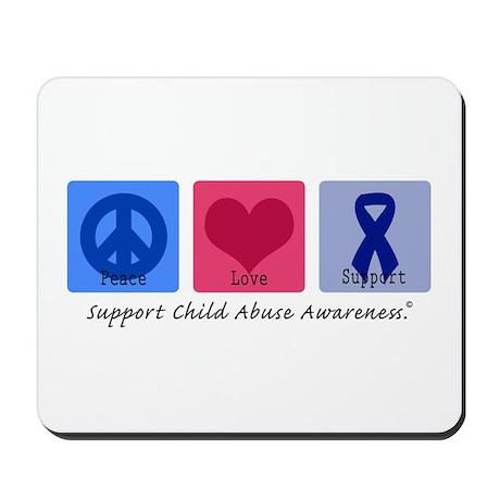 Peace Love Child Abuse Mousepad