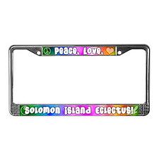 Hippie Solomon Island Eclectus License Plate Frame