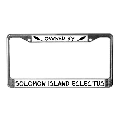 Owned by SI Eclectus License Plate Frame
