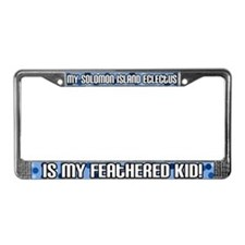 SI Eclectus Feathered Kid License Plate Frame