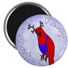 Female Reindeer SI Eclectus Holiday Magnet