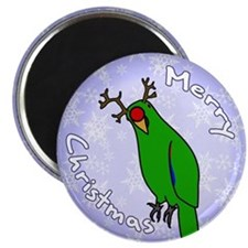 Male Reindeer SI Eclectus Holiday Magnet