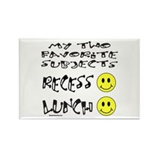LUNCH AND RECESS Rectangle Magnet