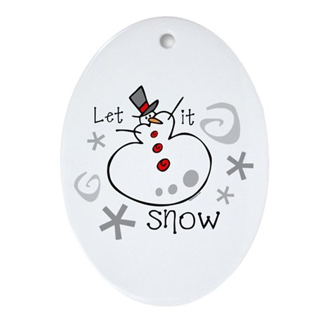 Let It Snow 2 Keepsake (Oval)