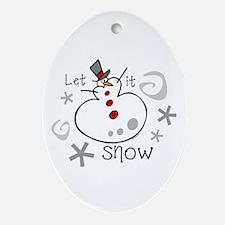 Let It Snow 2 Keepsake (Oval)