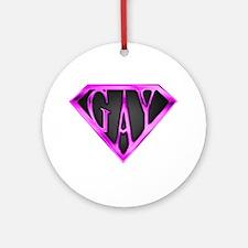SuperGay(Pink) Ornament (Round)