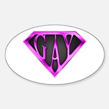 SuperGay(Pink) Oval Decal