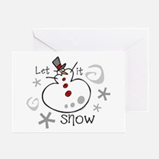 Let It Snow 2 Greeting Card