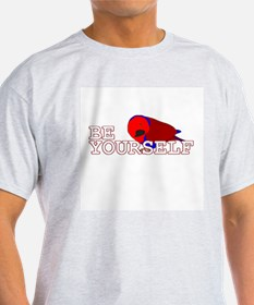 Be Yourself - Female Eclectus Ash Grey T-Shirt