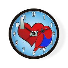 I Love My Solomon Island Eclectus Clock (Hen)