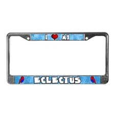 I Love My SI Eclectus License Plate Frame (Hen)