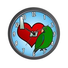 Love Solomon Island Eclectus Wall Clock