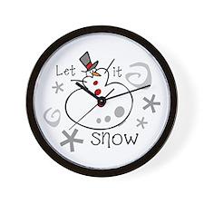 Let It Snow 2 Wall Clock