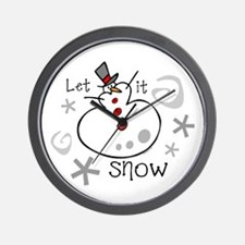 Let It Snow 2 Wall Clock
