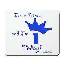 1st Birthday Prince Mousepad