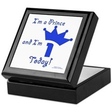 1st Birthday Prince Keepsake Box