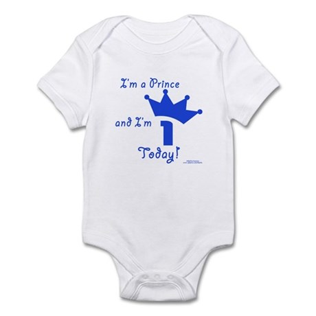 1st Birthday Prince Infant Bodysuit
