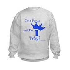 1st Birthday Prince Sweatshirt