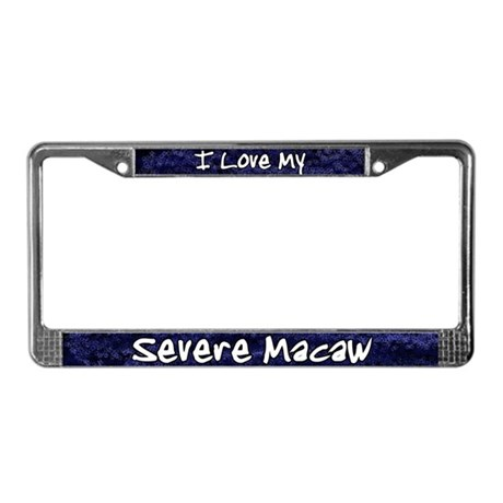 Funky Love Severe Macaw License Plate Frame