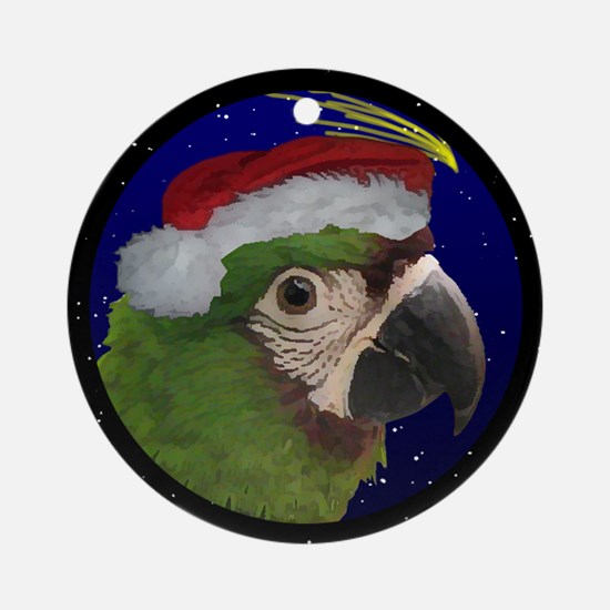 Christmas Night Severe Macaw Ornament