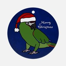 Santa Severe Macaw Ornament