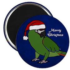 Santa Severe Macaw Magnet